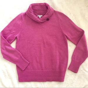 Croft & Barrow cable knit fuschia pink sweater
